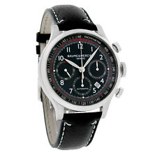 Baume & Mercier Capeland Mens Black Dial Swiss Automatic Chronograph Watch 10001