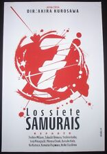 SEVEN SAMURAI Original Cuban Silkscreen Tribute Poster for Japanese Movie / CUBA