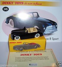 DINKY TOYS ATLAS SIMCA 8 SPORT NOIRE 1/43 REF 24S IN BOX