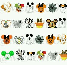 Disney Halloween Nail Decals (water decals) Disney Nail Decals