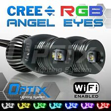 BMW 20W RGB Color Change WIFI Angel Eyes Halo Canbus LED E90 E91 3-Series 06-08