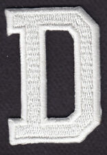 "LETTERS - WHITE BLOCK LETTER ""D"" (1 7/8"") - Iron On Embroidered Applique Patch"