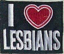 I Love Lesbians iron on/sew on cloth patch REDUCED