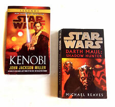 STAR WARS Expanded Universe OBI WAN KENOBI & DARTH MAUL Novels Book set of 2