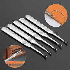 5Pcs V Shaped Hand Working Leather Groover Edge Beveler Skiving Craft DIY Tool