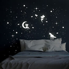 Leuchtsticker Feen Elfen Sterne und Einhorn M2043