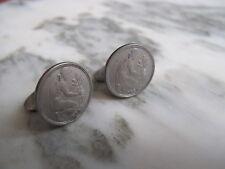 1950 D Bundesrepublik Deutschland 50 Pfennig Germany German Coin Cufflinks 835