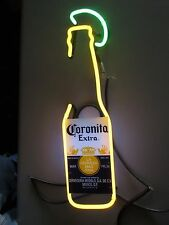 Corona Extra 7 oz. Bottle W/ Lime Beer Neon Sign Glass Tubing Replacement H39