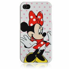 For iPod Touch 4 Minnie Mouse Red Bow Pink Dots Disney TPU Silicone Cover Case