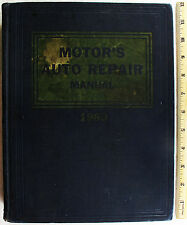 Vintage 1960 Motor's Auto Repair Manual For Domestic Cars 1953-1960 23rd Edition