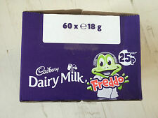 Cadbury Dairy Milk Freddo Box of 60, 18g Bars, Perfect for Party Bag