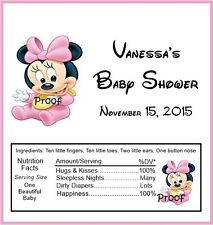 15 Baby Minnie Baby Shower Candy Bar Wrappers