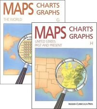 Maps Charts Graphs G & H (Grades 7-8) SET of 2