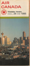Air Canada system timetable 10/26/86 [5012] Buy 2 Get 1 Free
