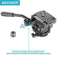 Neewer Video Camera Fluid Drag Tripod Head for Cameras, Tripods & Monopods