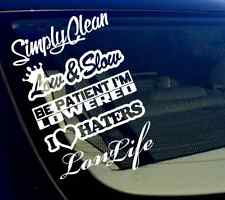 JDM Lot/Pack of 5 Stickers/Decals - Sticker bomb slammed low & Slow (5PKlowslow)