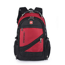 Fashion Swiss Gear Travel Bag Macbook laptop hike red color backpack freeship