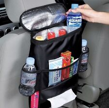 Car Back Seat Multi-Pocket Storage Bag Organizer with Cooling Compartment Holder