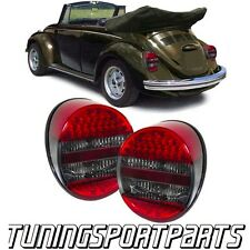 REAR LED LIGHTS RED-SMOKE FOR VW BEETLE 1972 LAMPS FARI POSTERIORI NEW