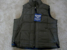 ABERCROMBIE & FITCH PUFFER VEST WOMAN'S SIZE M NWT GREEN & NAVY