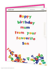 Brainbox Candy birthday greeting cards funny cheeky joke mum favourite son