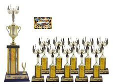 FIRST TIME CAR SHOW AWARD TROPHY PACKAGE 1B TOP 10 CAR SHOW AWARDS