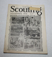 Scouting Magazine 1931 November Issue 'We Serve' Photos Cover