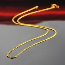 "17.6"" L 999 24K Yellow Gold Necklace / Perfect Curb Link Chain Necklace 3g"