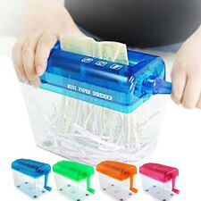 New 4 Color Mini Hand Wind Portable Mechanic Paper Shredder Office Home School