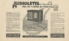 Z1028 AUDIOLETTA la nuova radio CGE - Pubblicità d'epoca - 1934 Old advertising