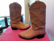 VINTAGE TONY LAMA WHITE LABEL QUILL OSTRICH SKIN COWBOY BOOTS 9D CT875 USA Made