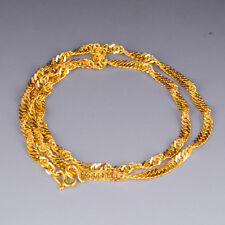 Authentic 999 24K Yellow Gold Necklace Charming Singapore Chain Necklace 3-4g