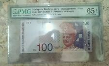 PMG 65 EPQ GEM UNC Zeti Aziz sign RM100 Replacement / Star banknotes ZD0104384