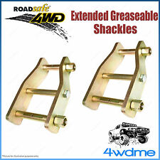 "Pair Rear 2"" 50mm Holden Rodeo 1983 - 2003 4WD Roadsafe Extended Shackles"