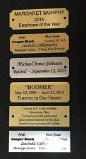 """1x3"""" CUSTOM PERSONALIZED GOLD SILVER ALUMINUM SUBLIMATED ENGRAVED NAME PLATE TAG"""