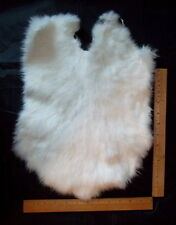 "Genuine Real White Rabbit Pelt/Hide/Skin/Fur - Crafts, Leathercraft, Kids- ""NEW"""