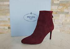 PRADA Gr 36 Stiefeletten Stiefel Schuhe shoes scarpe Granato 1T079G neu UVP 690€