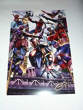 AVENGERS ART PRINT 1 HAND SIGNED BY GREG HORN 11x17