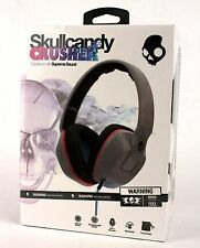 Skullcandy Crusher Gray Black Hot Pink Over-Ear Amplifier Headphones Ear-Cup NEW