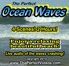 NEW! DVD Relaxing Ocean Waves Ambient Water Beach Video