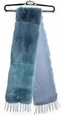 Max Mara JUMBO Dyed Rabbit / Cashmere Fur Collar Scarf Msrp $1050 Made in Italy