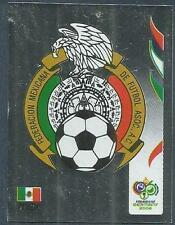 PANINI FIFA WORLD CUP-GERMANY 2006- #245-MEXICO TEAM BADGE-SILVER FOIL