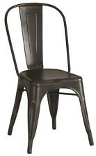 Contemporary Black Industrial Metal Chair by Coaster 105612 - Set of 4
