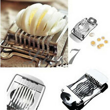 Stainless Egg Slicer Kitchen Cutter Cheese Mushroom Mold Tool Cut Sectioner