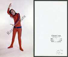 Or. foto a colori di Diana Rigg Emma Peel Avengers Karate Studio Monaco James Bond 1969