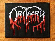 Obituary Rock Band Sew Iron On Patch American Death Metal Embroidered Logo Music