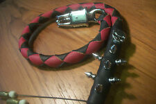 biker whip getback ULTIMATE whip BLACK & RED  SKULLS &SPIKES BY STITCH!!!!