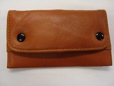 Soft Leather Tobacco Pouch with slot for paper Small Size Tan Colour