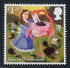 """The Game of Croquet"" (Alice in Wonderland) illustrated on 2015 Stamp - U/M"