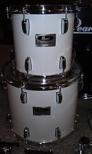 "Pearl Drums Session Series white 10"" & 14"" deep toms w/ ISS mounts, arms & heads"